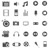 Media and entertainment icons set vector Stock Image