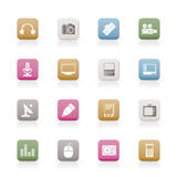 Media equipment icons Stock Photo