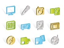 Media equipment icons Royalty Free Stock Images