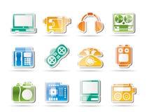 Media equipment icons Stock Photography