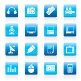 Media equipment icons Royalty Free Stock Photography