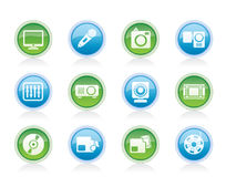 Media equipment icons Royalty Free Stock Image