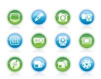 Media equipment icons Royalty Free Stock Image