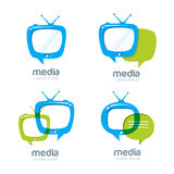 Media et calibre de conception de logo d'actualités de TV Images stock