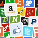 Media et fond sociaux d'icônes de réseau illustration libre de droits