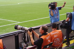 Media at the 2015 FIFA Women's World Cup Royalty Free Stock Photo