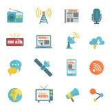 Media Flat Icons Stock Photos
