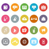 Media flat icons on white background Stock Photography