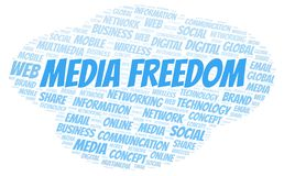 Media Freedom word cloud. Word cloud made with text only royalty free illustration