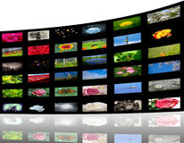 Media gallery. 3D view of colorful media gallery Stock Images
