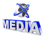 Media global concept Stock Photo