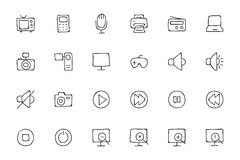 Media Hand Drawn Doodle Icons 1 Stock Image