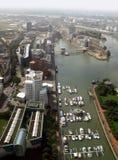 Media Harbor of Düsseldorf and river Rhine Royalty Free Stock Image