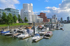 Media Harbor in Dusseldorf with buildings of Neuer Zollhof Royalty Free Stock Photography