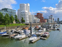 Media Harbor in Dusseldorf with buldings of Neuer Zollhof Stock Photo
