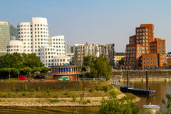 Media Haven in Dusseldorf, Duitsland stock foto