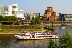 Media Haven in Dusseldorf, Duitsland Juli 2013 royalty-vrije stock foto's