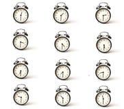 Media hora determinada del reloj de alarma Fotografía de archivo
