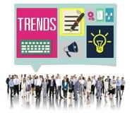 Media Hot Trendy Latest Modern Concept Stock Images
