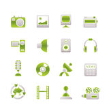 Media and household  equipment icons Royalty Free Stock Photography