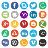 Media/icône sociaux de Web Photographie stock