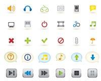 Media icon Stock Photography