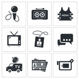 Media icon collection Stock Photo