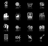 Media icon series set. A series set of icons relating to various types of media Royalty Free Stock Photography