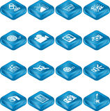 Media Icon Series Set Royalty Free Stock Images