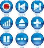 Media icon set (1of4) (vector)
