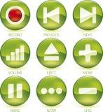 Media icon set (1of4) (vector) Stock Image