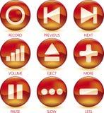 Media icon set (1of4) (vector) Stock Photo