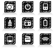 Media icon set 2 Royalty Free Stock Photography
