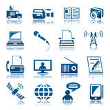Media icon set Stock Photo