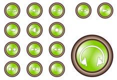 Media icon Set. Media icon Se for Web Royalty Free Stock Photos