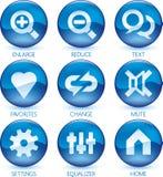 Media icon set (3of4) (vector) Stock Photos