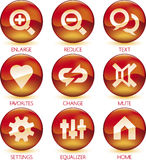 Media icon set (3of4) (vector) Royalty Free Stock Photography