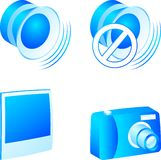 Media icon set. Set of 3d media icons. Vector illustration Royalty Free Stock Photo