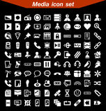 Media icon set. 100 icon Media icon set vector illustration