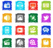 Media icon set Stock Images