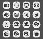 Media icon set Royalty Free Stock Photo