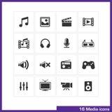 Media icon set. Stock Images