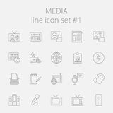 Media icon set Stock Image