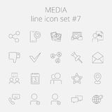 Media icon set Royalty Free Stock Images