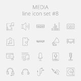 Media icon set Stock Image