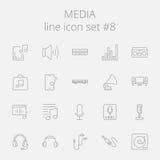 Media icon set vector illustration