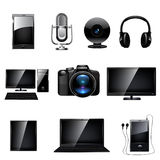 Media icon set. Vector Stock Photo