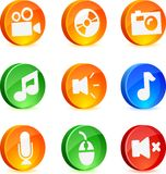 Media Icons. Stock Photos