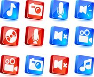 Media icons. Royalty Free Stock Image