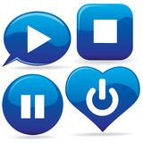 Media Icons Stock Photo